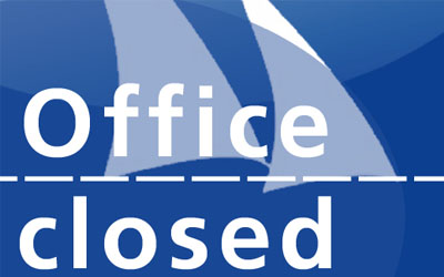 Office closed on 3. October