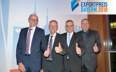 "Winner of ""Exportpreis Bayern 2018"" – Category ""Industry"""
