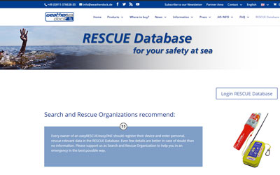 "The new ""RESCUE Database"" – even more safety at sea"