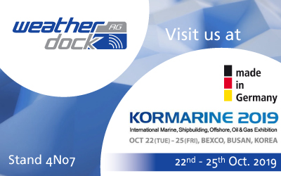 Weatherdock for the first time as an exhibitor at KORMARINE, Busan Korea