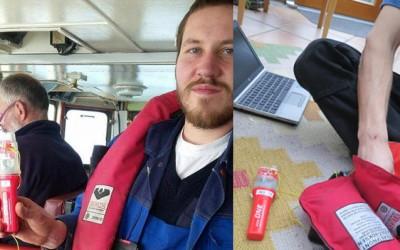 Rettungssender von Weatherdock für das Team von Sea-Watch