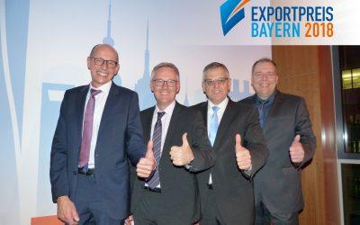 """Gewinner Exportpreis Bayern 2018 – Kategorie """"Industrie"""""""