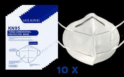 KN95 Masken 10er Pack €32,- plus Versand  –  Gesund bleiben im Kampf gegen Corona