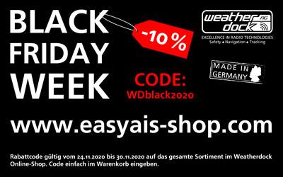 BLACK FRIDAY WEEK im Weatherdock Online-Shop mit -10% Rabatt
